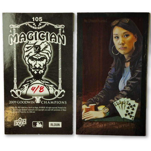 Evelyn Ng 4/8 2009 Upper Deck Goodwin Champions #105 Mini Black Border Foil Poker Trading Card