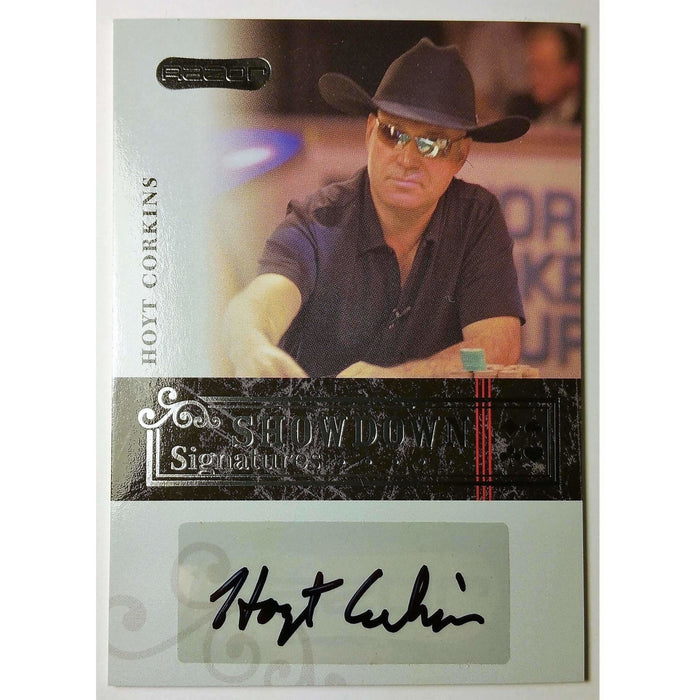 Hoyt Corkins 2006 Razor Poker #A-3 Showdown Signature Poker Trading Card