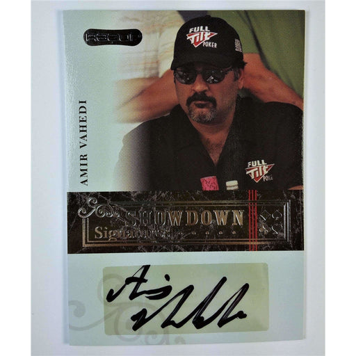 Amir Vahedi 2006 Razor Poker #A-15 Showdown Signature Poker Trading Card