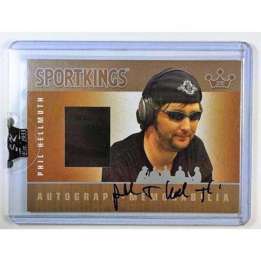 Phil Hellmuth 2007 Sportkings Autograph Memorabilia Silver #AMPH Shirt Poker Trading Card /40 Short Print