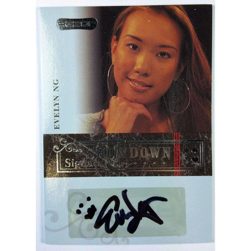 Evelyn Ng Showdown 2006 Razor Poker #A-22  Signature Poker Trading Card