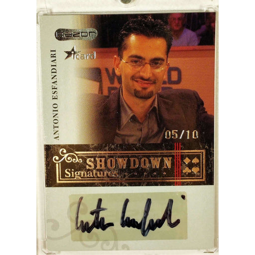 Antonio Esfandiari 2006 Razor Poker iCard #A-13 Showdown Signature Poker Trading Card 5/10