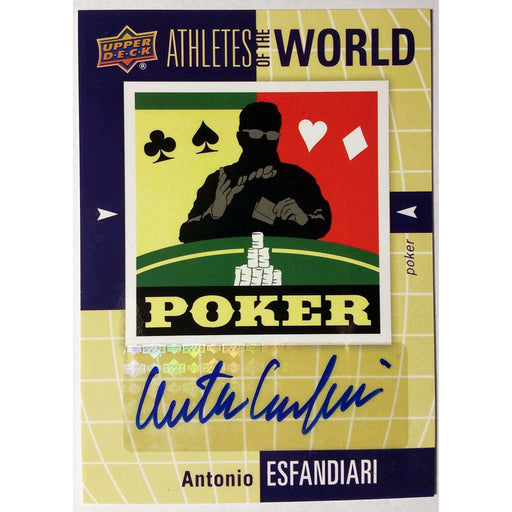Antonio Esfandiari 2011 UD World of Sports #AWAE Athletes of the World Autograph