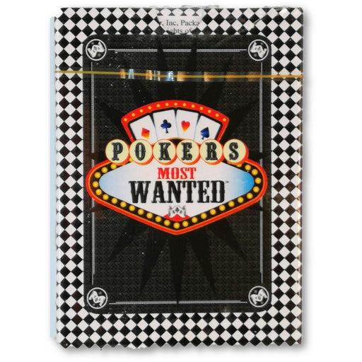 Deck of Pokers Most Wanted Poker Pro Playing Cards