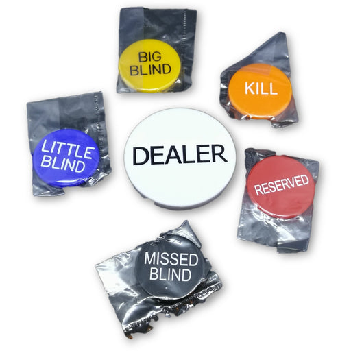 Set of Dealer Buttons for Hold'em and Omaha Poker