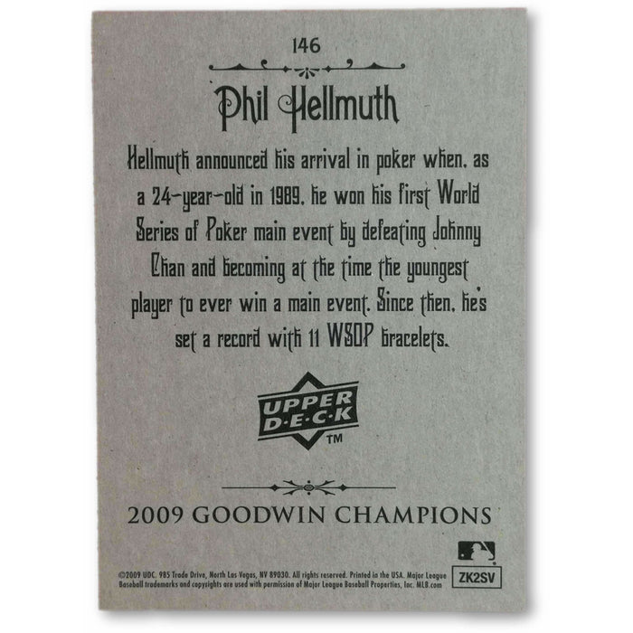 Phil Hellmuth #146 2009 Upper Deck Goodwin Champions Poker Trading Card