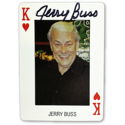 Jerry Buss Autograph Pro Deck Poker Pro Playing Card King of Hearts