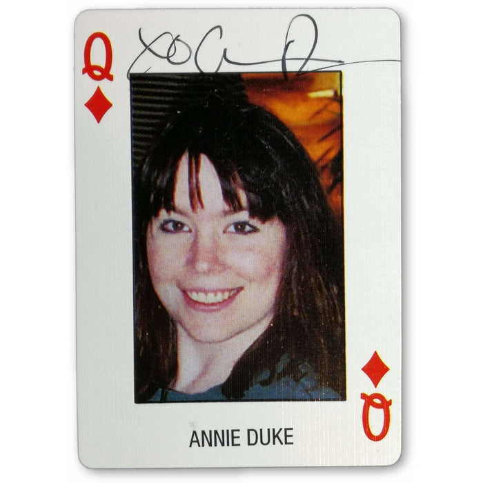 Annie Duke Autograph Pro Deck Poker Pro Playing Card Queen of Diamonds