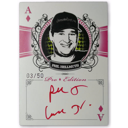 Phil Hellmuth 2009 Wheels Main Event #44 Autograph Ace of Diamonds Pro Edition 3/50