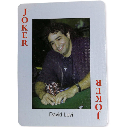 David Levi Pokers Most Wanted Poker Pro Playing Card Joker Red