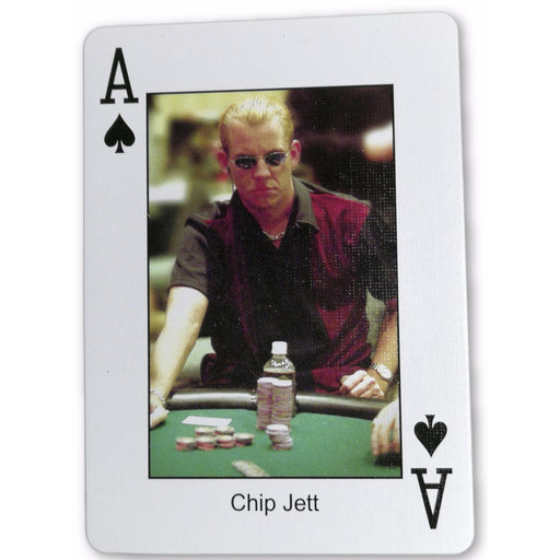 Chip Jett Pokers Most Wanted Poker Pro Playing Card Ace of Spades