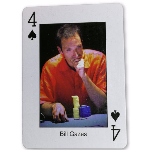 Bill Gazes Pokers Most Wanted Poker Pro Playing Card 4 of Spades
