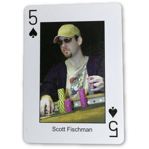 Scott Fischman Pokers Most Wanted Poker Pro Playing Card 5 of Spades