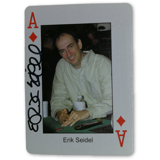 Erik Seidel Autograph Pokers Most Wanted Poker Pro Playing Card Ace of Diamonds