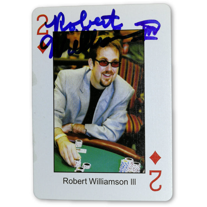 Robert Williamson Autograph Pokers Most Wanted Poker Pro Playing Card 2 of Diamonds