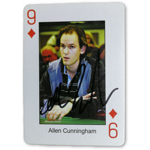 Allen Cunningham Autograph Pokers Most Wanted Poker Pro Playing Card 9 of Diamonds