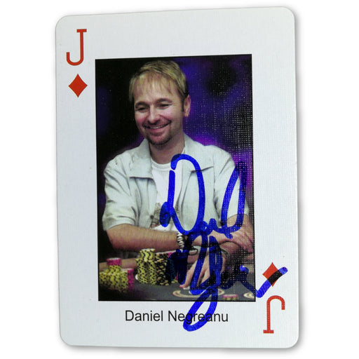 Daniel Negreanu Autograph Pokers Most Wanted Poker Pro Playing Card Jack of Diamonds