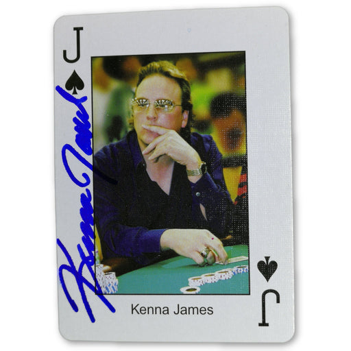 Kenna James Autograph Pokers Most Wanted Poker Pro Playing Card Jack of Spades