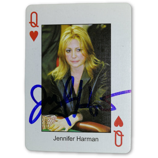 Jennifer Harman Autograph Pokers Most Wanted Poker Pro Playing Card Queen of Hearts