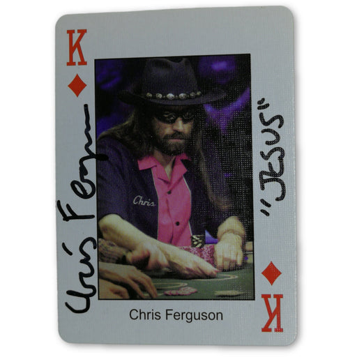 Chris Ferguson Autograph Pokers Most Wanted Poker Pro Playing Card King of Diamonds