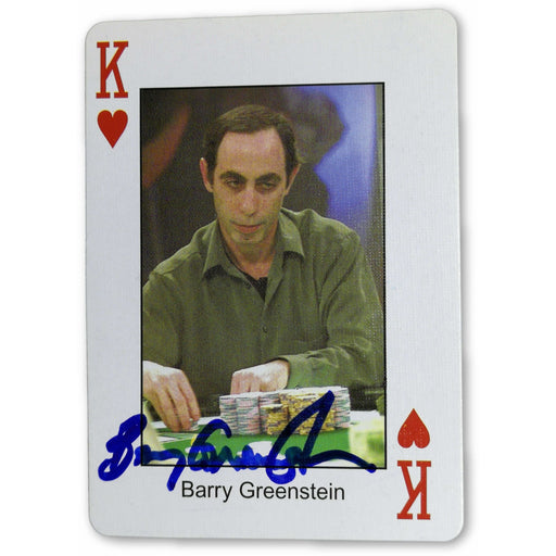 Barry Greenstein Autograph Pokers Most Wanted Poker Pro Playing Card King of Hearts