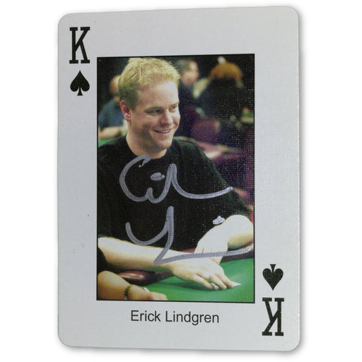 Erick Lindgren Autograph Pokers Most Wanted Poker Pro Playing Card King of Spades