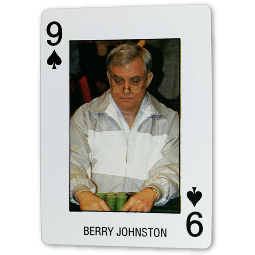 Berry Johnston Pro Deck Poker Pro Playing Card 9 of Spades
