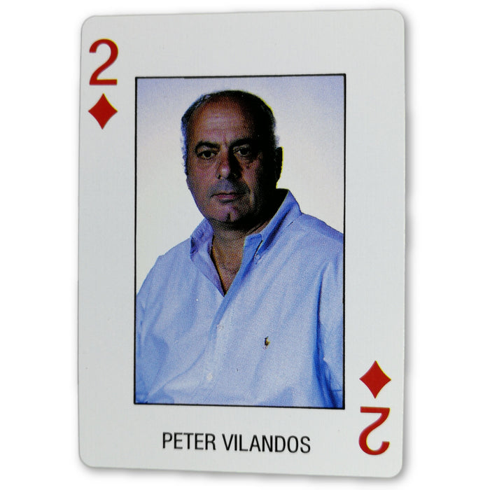 Peter Vilandos Pro Deck Poker Pro Playing Card 2 of Diamonds