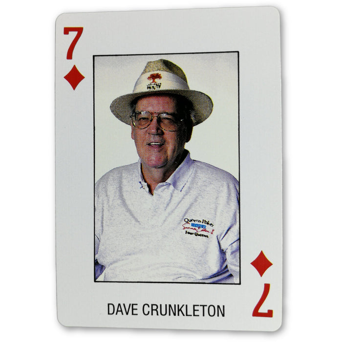 Dave Crunkleton Pro Deck Poker Pro Playing Card 7 of Diamonds
