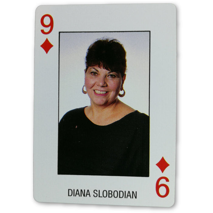 Diana Slobodiam Pro Deck Poker Pro Playing Card 9 of Diamonds