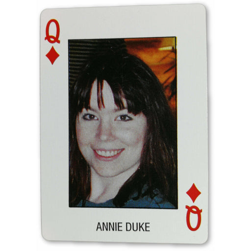 Annie Duke Pro Deck Poker Pro Playing Card Queen of Diamonds