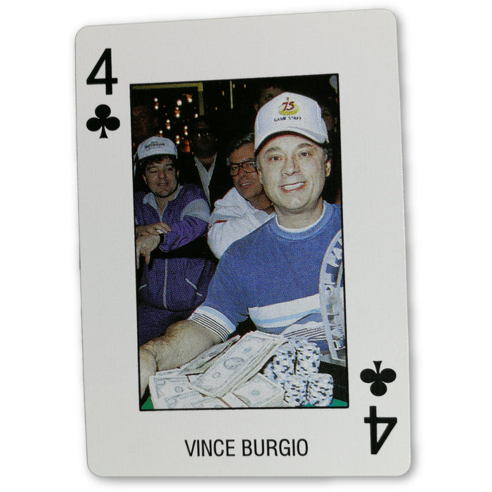 Vince Burgio Pro Deck Poker Pro Playing Card 4 of Clubs