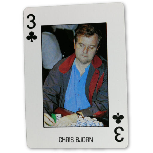 Chris Bjorn Pro Deck Poker Pro Playing Card 3 of Clubs