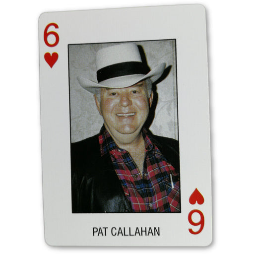 Pat Callahan Pro Deck Poker Pro Playing Card 6 of Hearts