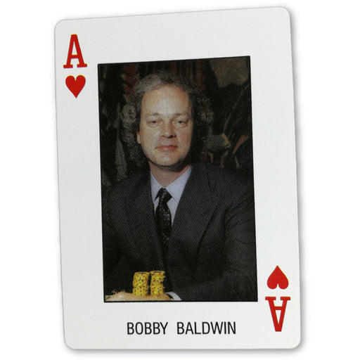 Bobby Baldwin Pro Deck Poker Pro Playing Card Ace of Heart