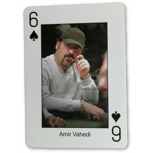 Amir Vahedi Pokers Most Wanted Poker Pro Playing Card 6 of Spades