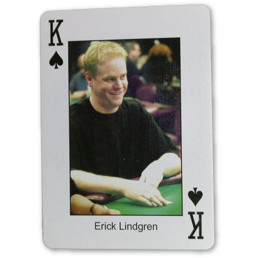 Erick Lindgren Pokers Most Wanted Poker Pro Playing Card King of Spades
