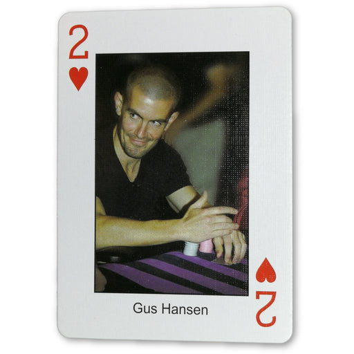 Gus Hansen Pokers Most Wanted Poker Pro Playing Card 2 of Hearts