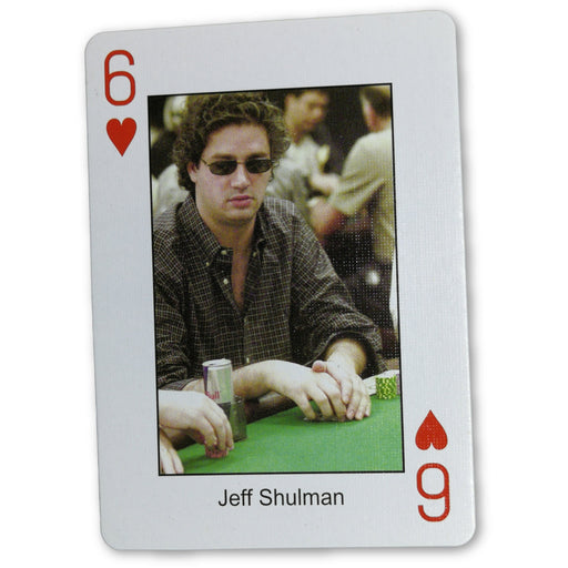 Jeff Shulman Pokers Most Wanted Poker Pro Playing Card 6 of Hearts