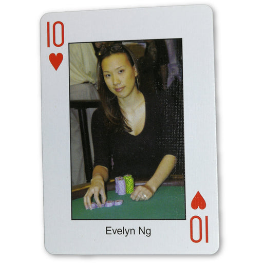 Evelyn Ng Pokers Most Wanted Poker Pro Playing Card 10 of Hearts