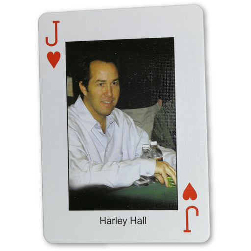 Harley Hall Pokers Most Wanted Poker Pro Playing Card Jack of Hearts