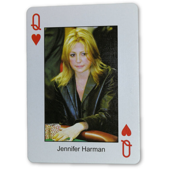 Jennifer Harman Pokers Most Wanted Poker Pro Playing Card Queen of Hearts