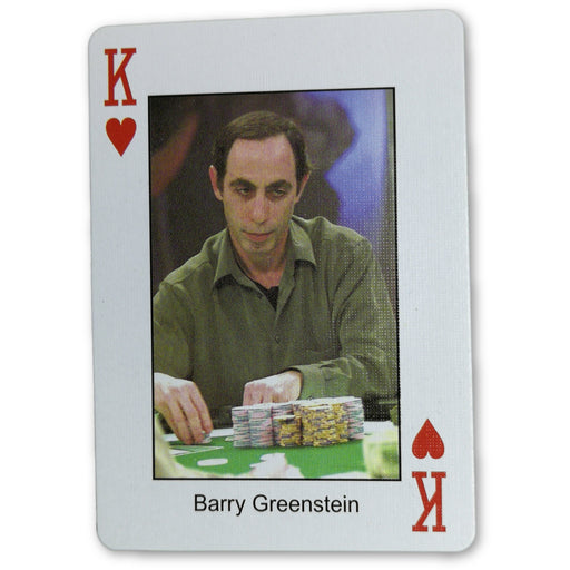 Barry Greenstein Pokers Most Wanted Poker Pro Playing Card King of Hearts