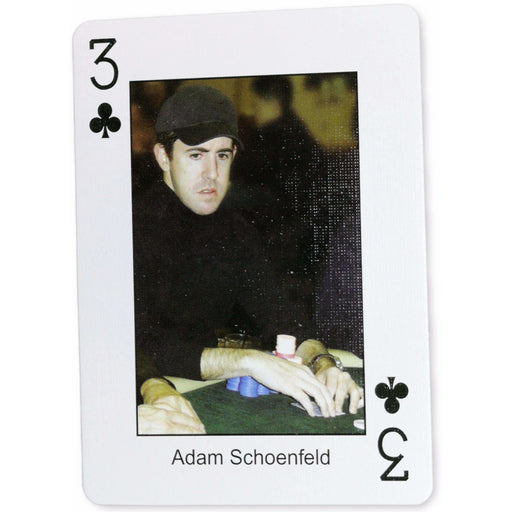 Adam Schoenfeld Pokers Most Wanted Poker Pro Playing Card 3 of Clubs