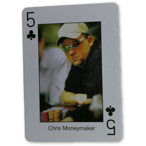 Chris Moneymaker Pokers Most Wanted Poker Pro Playing Card 5 of Clubs
