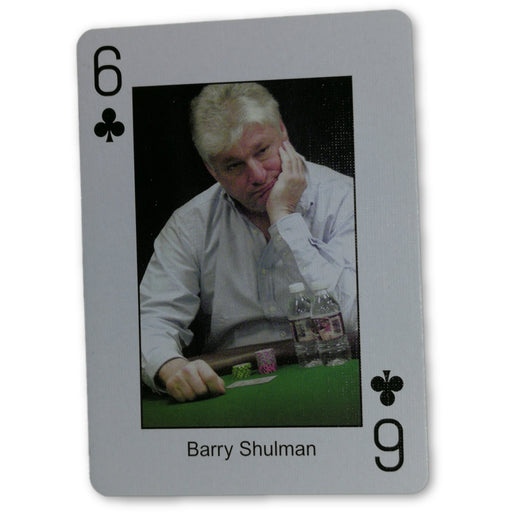Barry Shulman Pokers Most Wanted Poker Pro Playing Card 6 of Clubs