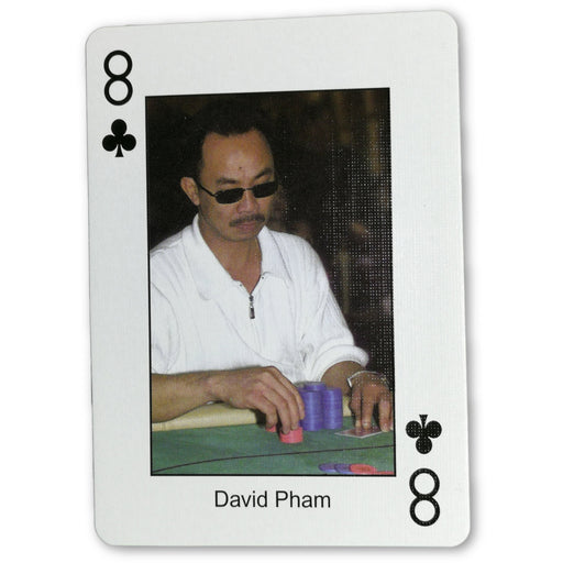 David Pham Pokers Most Wanted Poker Pro Playing Card 8 of Clubs