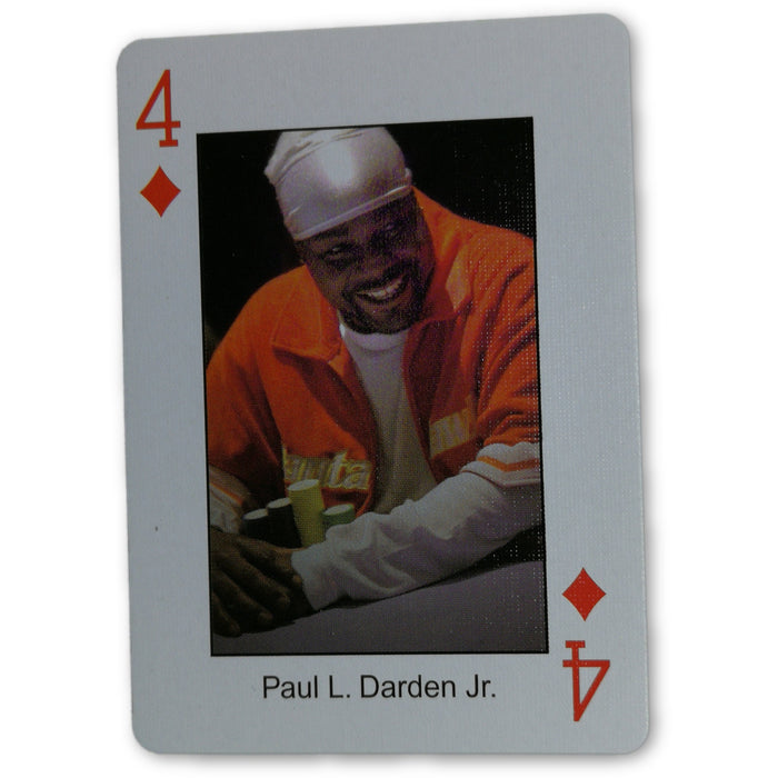 Paul Darden Pokers Most Wanted Poker Pro Playing Card 4 of Diamonds