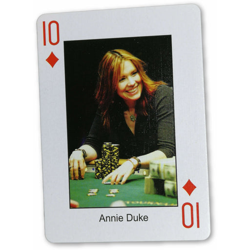 Annie Duke Pokers Most Wanted Poker Pro Playing Card 10 of Diamonds