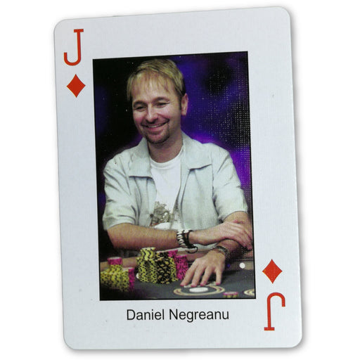 Daniel Negreanu Pokers Most Wanted Poker Pro Playing Card Jack of Diamonds